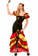 Spanish Rumba Dancer Costume (EF2165)